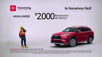 Toyota TV Spot, 'Trabajador de construcción: Highlander' [Spanish] [T2] - Thumbnail 4