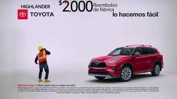 Toyota TV Spot, 'Trabajador de construcción: Highlander' [Spanish] [T2]