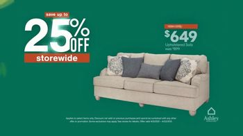 Ashley HomeStore Spring Semi-Annual Sale TV Spot, '25% Off Storewide & Special Financing: Sofa' - Thumbnail 6