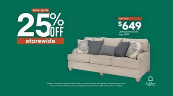 Ashley HomeStore Spring Semi-Annual Sale TV Spot, '25% Off Storewide & Special Financing: Sofa' - Thumbnail 7