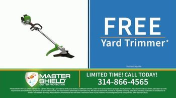 MasterShield Gutter Protection TV Spot, 'Never-Clog Technology: Free Yard Trimmer' - Thumbnail 7