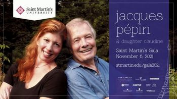 Saint Martin's University TV Spot, '2021 Saint Martin's Gala: Jaques Pépin' - Thumbnail 3