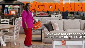 Big Lots Memorial Day Sale TV Spot, 'Bigionaire; Sectional' Featuring Retta - Thumbnail 1