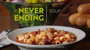 Olive Garden Never Ending Soup, Salad & Breadsticks TV Spot, 'Our Famous Never Ending First Course' - Thumbnail 8
