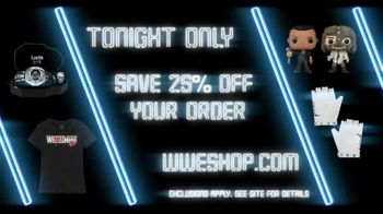 WWE Shop TV Spot, 'Dance Like Nobody's Watching: Save 25% Off Your First Order' Song by Yez Yez - Thumbnail 8
