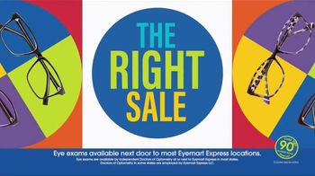 Eyemart Express The Right Sale TV Spot, 'Right Now'