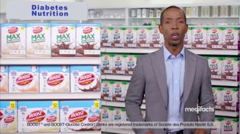 Boost Complete Nutritional Drink Glucose Control TV Spot, 'Medifacts: Confidence'