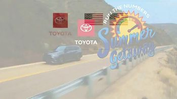 Toyota Run the Numbers Summer Getaway TV Spot, 'Time to Get Away: SUVs' [T2] - Thumbnail 10