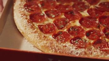 Little Caesars Pepperoni & Cheese Stuffed Crust EXTRAMOSTBESTEST Pizza TV Spot, 'Pepperoni and Cheese Panic' - Thumbnail 4