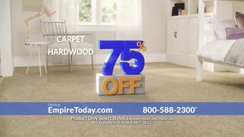 Empire Today 75% Off Sale TV Spot, 'Now's the Time to Get New Floors'
