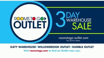 Rooms to Go 3 Day Warehouse Sale TV Spot, 'Houston: Save Up to 30%' - Thumbnail 10