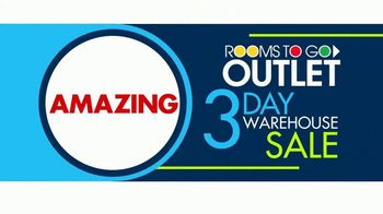 Rooms to Go 3 Day Warehouse Sale TV Spot, 'Houston: Save Up to 30%' - Thumbnail 2