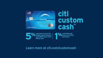 Citi Custom Cash Card TV Spot, 'It Pays to be Rashida & Dan: Workout, Gas Station, Café' - Thumbnail 9
