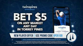 TwinSpires Sportsbook TV Spot, 'Major Championship: Bet $5 and Get $100'