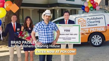 Publishers Clearing House TV Spot, 'Two Days Left: $1,000 a Day' Featuring Brad Paisley - 224 commercial airings