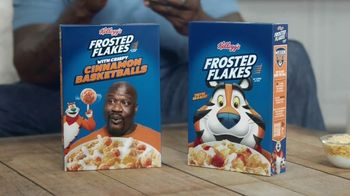 Frosted Flakes With Crispy Cinnamon Basketballs TV Spot, 'My Cereal' Featuring Shaquille O'Neal - Thumbnail 3