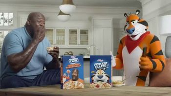 Frosted Flakes With Crispy Cinnamon Basketballs TV Spot, 'My Cereal' Featuring Shaquille O'Neal - Thumbnail 4