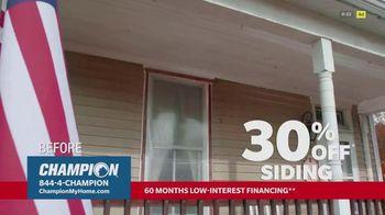 Champion Windows TV Spot, 'Siding: Enhance Your Curb Appeal: 30% Off' - Thumbnail 4