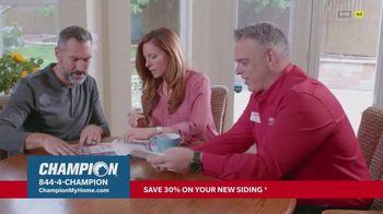 Champion Windows TV Spot, 'Siding: Enhance Your Curb Appeal: 30% Off' - Thumbnail 6