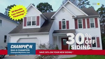 Champion Windows TV Spot, 'Siding: Enhance Your Curb Appeal: 30% Off' - Thumbnail 9