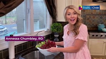 Fruits From Chile TV Spot, 'Chilean Grapes: Nutrition and Usage Ideas' Ft. Annessa Chumbley - Thumbnail 1