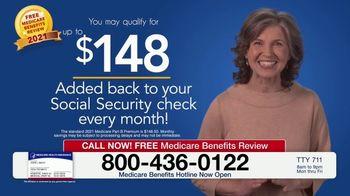 Medicare Benefits Hotline TV Spot, 'New Medicare Benefits: $148 Added Back to Social Security' - Thumbnail 2