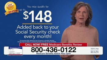 Medicare Benefits Hotline TV Spot, 'New Medicare Benefits: $148 Added Back to Social Security' - Thumbnail 7