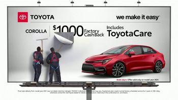 2021 Toyota Corolla TV Spot, 'Billboard: Corolla' [T2] - Thumbnail 1
