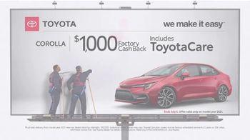 2021 Toyota Corolla TV Spot, 'Billboard: Corolla' [T2] - Thumbnail 10