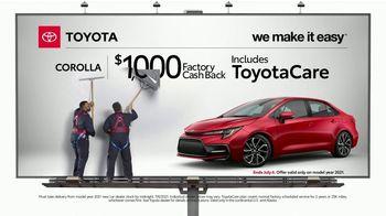 2021 Toyota Corolla TV Spot, 'Billboard: Corolla' [T2] - Thumbnail 2