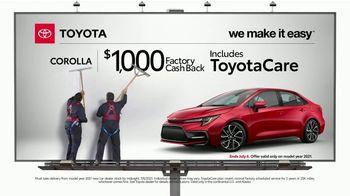 2021 Toyota Corolla TV Spot, 'Billboard: Corolla' [T2] - Thumbnail 3