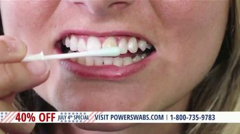 Power Swabs 4th of July Special TV Spot, 'Clinically Studied'