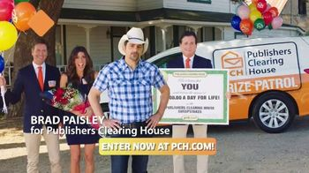 Publishers Clearing House TV Spot, 'Four Days Left: $1,000 a Day' Featuring Brad Paisley - 676 commercial airings