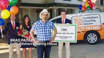 Publishers Clearing House TV Spot, 'Four Days Left: $1,000 a Day' Featuring Brad Paisley - Thumbnail 1