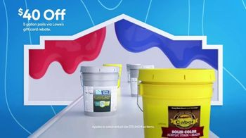 Lowe's TV Spot, '4th of July: $40 Off Paint and Stain 5 Gallon' - Thumbnail 7
