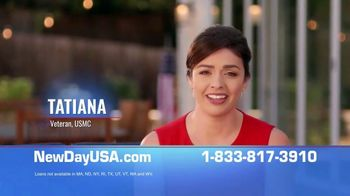 NewDay USA 100 VA Cash Out Loan TV Spot, 'Borrow Up to 100% Of Your Home's Value'