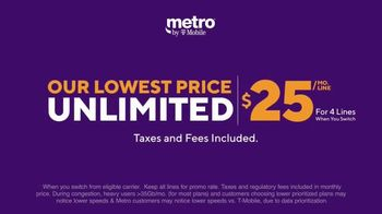 Metro by T-Mobile TV Spot, 'Zero Fees to Switch: Four Free Samsung Galaxy and MLB TV' - Thumbnail 5
