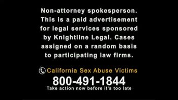 Knightline Legal TV Spot, 'California Sex Abuse Victims' - Thumbnail 1