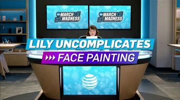 AT&T Wireless TV Spot, 'Lily Uncomplicates: Face Painting' - Thumbnail 2