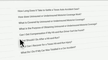 Thomas J. Henry Injury Attorneys TV Spot, 'Personal Injury FAQs' - Thumbnail 7