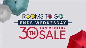 Rooms to Go 30th Patio Anniversary Sale TV Spot, 'Made in the Shade: Ends Wednesday' Song by Junior Senior - Thumbnail 1