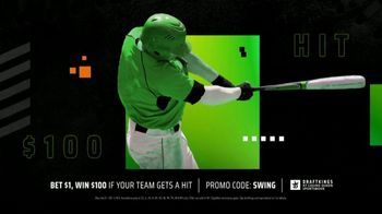 DraftKings at Casino Queen Sportsbook TV Spot, 'Go Big On Baseball'