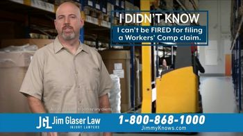 Jim Glaser Law TV Spot, 'Workers Comp: $250,000' - Thumbnail 2