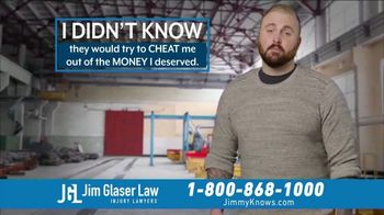 Jim Glaser Law TV Spot, 'Workers Comp: $250,000' - Thumbnail 3