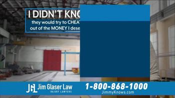 Jim Glaser Law TV Spot, 'Workers Comp: $250,000' - Thumbnail 4