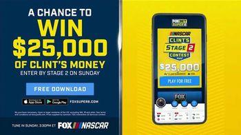 FOX Bet TV Spot, 'NASCAR: Win $25,000 of Clint's Money' - 9 commercial airings