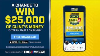 FOX Bet TV Spot, 'NASCAR: Win $25,000 of Clint's Money'