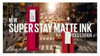 Maybelline New York SuperStay Matte Ink Spiced Edition TV Spot, 'Bring the Heat' - Thumbnail 3