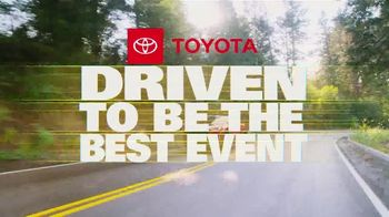 Toyota Driven to Be the Best Event TV Spot, 'Best Deals: College Grad Rebate' [T2] - Thumbnail 1