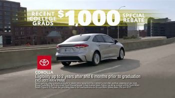 Toyota Driven to Be the Best Event TV Spot, 'Best Deals: College Grad Rebate' [T2] - Thumbnail 5